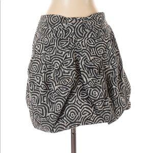 NWOT Anthropologie Eva Franco Silver & Black Skirt